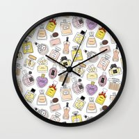 perfume Wall Clocks featuring Perfume by thedreamingclouds