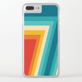 Colorful Retro Stripes  - 70s, 80s Abstract Design Clear iPhone Case