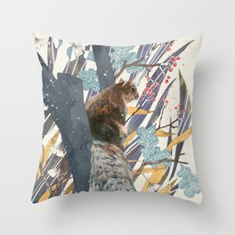 waiting for autumn Throw Pillow
