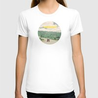 dreams T-shirts featuring NEVER STOP EXPLORING - vintage volkswagen van by Leslee Mitchell