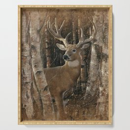Deer - Birchwood Buck Serving Tray