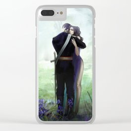 In your arms - Love embrace before departure - couple tight hug Clear iPhone Case