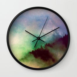 Ethereal Rainbow Clouds - Nature Photography Wall Clock
