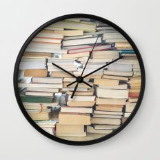 Books, Pages, Stories Wall Clock