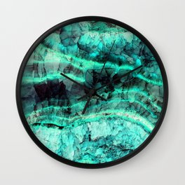 Turquoise onyx marble Wall Clock