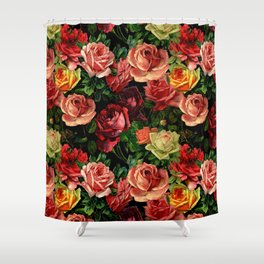 Vintage & Shabby chic - floral roses flowers rose Shower Curtain
