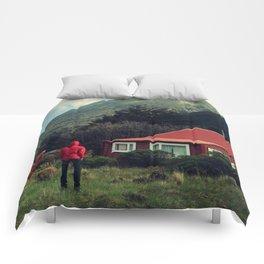 Red stalker hood! Comforters