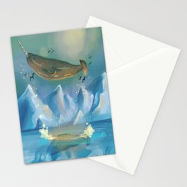 Flying Narwhals Stationery Cards