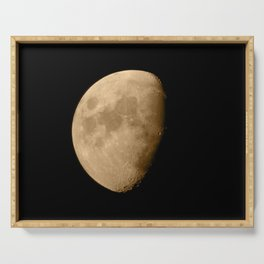 4K Dark Side of the Moon Golden Yellow Serving Tray