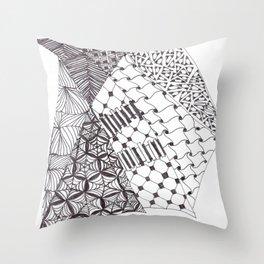 Zen Doodle Graphics zz06 Throw Pillow