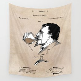 patent moustache holder Wall Tapestry