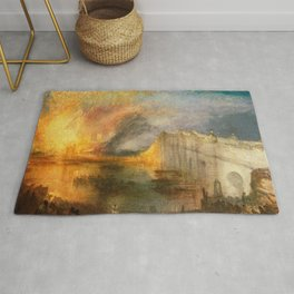 William Turner - The Burning of the Houses of Parliament, 1834 Rug