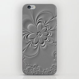 Embossed Floral Fractal iPhone Skin