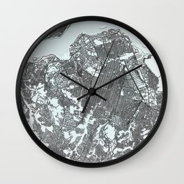 Kinshasa Democratic Republic of the Congo, White, City, Map Wall Clock