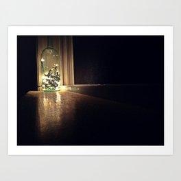 light in the darkness Art Print