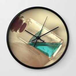 Boat in a bottle Wall Clock