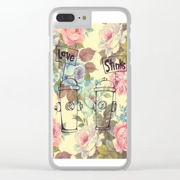 Love Stinks Clear iPhone Case
