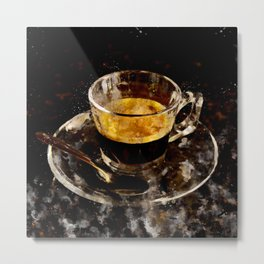 Espresso - watercolor Metal Print