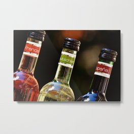 France Germany Spain Bottles of Wine Metal Print