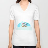 fishing V-neck T-shirts featuring Fishing by Soni Raj Designs