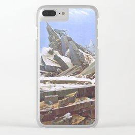 The Sea of Ice - Caspar David Friedrich Clear iPhone Case