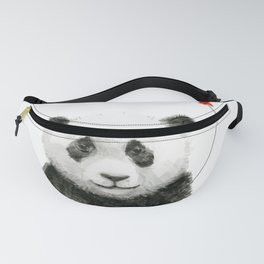 Baby Panda and Red Balloon Fanny Pack