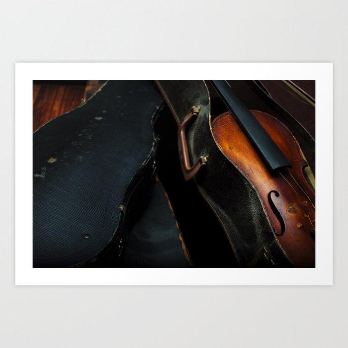 Old Violin Art Print
