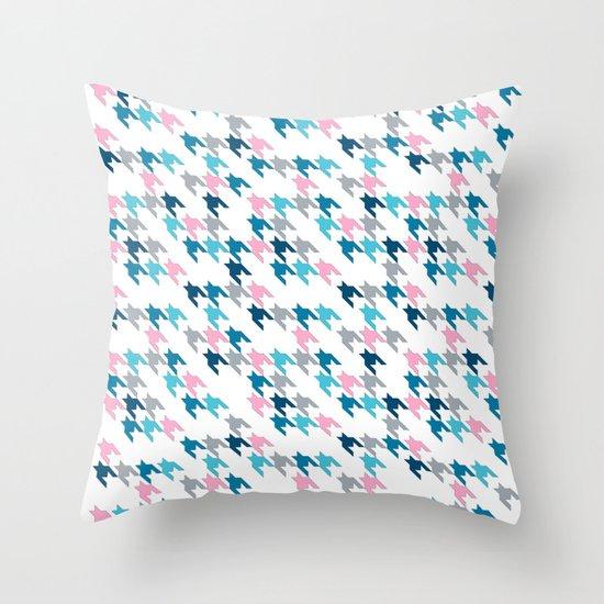 Pink Tooth Throw Pillow