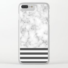 Marble Sun Clear iPhone Case