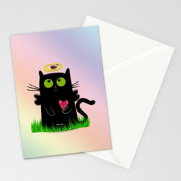 angel cat and ladybug Stationery Cards