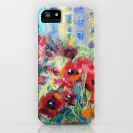 Summers red flowers iPhone Case