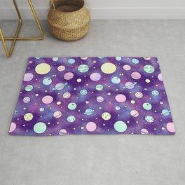 Need Some Space! Kawaii Galaxy Doodle Rug