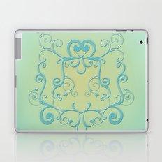 Mint tendrils emblem Laptop & iPad Skin