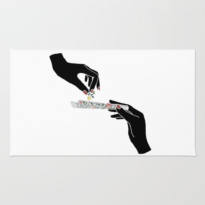 Flower roll / Illustration Rug
