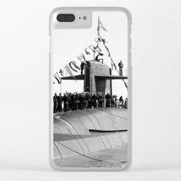 USS WOODROW WILSON (SSBN-624) Clear iPhone Case