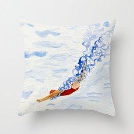 Swimmer - diving Throw Pillow