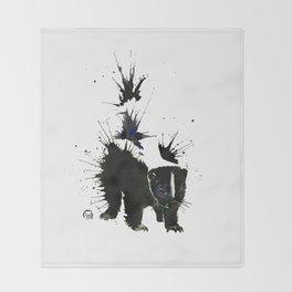 Skunk - Ink Blot Throw Blanket