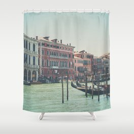 looking along the Grand Canal in Venice Shower Curtain