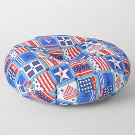 4th July Patchwork Floor Pillow
