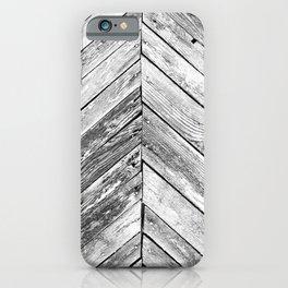 Vintage wood pattern iPhone Case