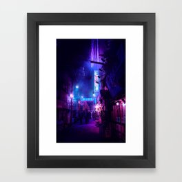 Tokyo Nights / Midnight City / Liam Wong Framed Art Print