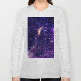 Ultra violet purple abstract galaxy Long Sleeve T-shirt