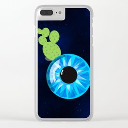 Cactus Eyeball Clear iPhone Case