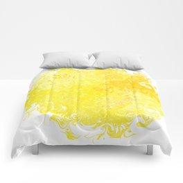 Yellow Swirl Comforters