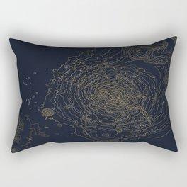 Mt. Shasta, California Topographic Contour Map Rectangular Pillow