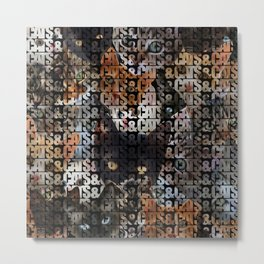 Cats and Cats and Metal Print