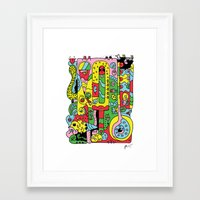 ice cream Framed Art Prints featuring Ice Cream by Rabassa