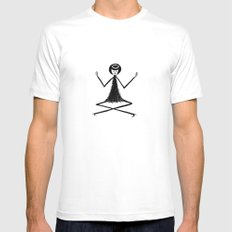 Yoga White Mens Fitted Tee SMALL