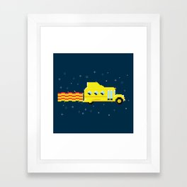 Magic Pixel Bus Framed Art Print
