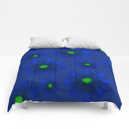 Blue Flowers Beautiful Pattern Comforters